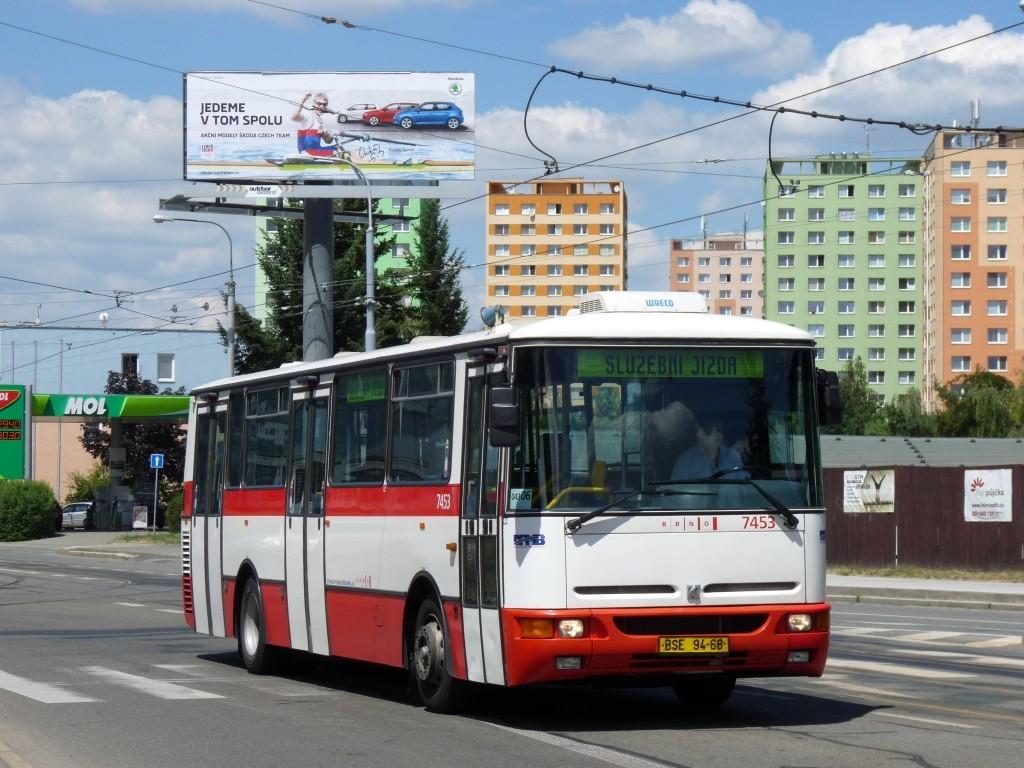 Fotogalerie » Karosa B931E.1707 BSE 94-68 7453 | Brno | Medlánky | Palackého třída