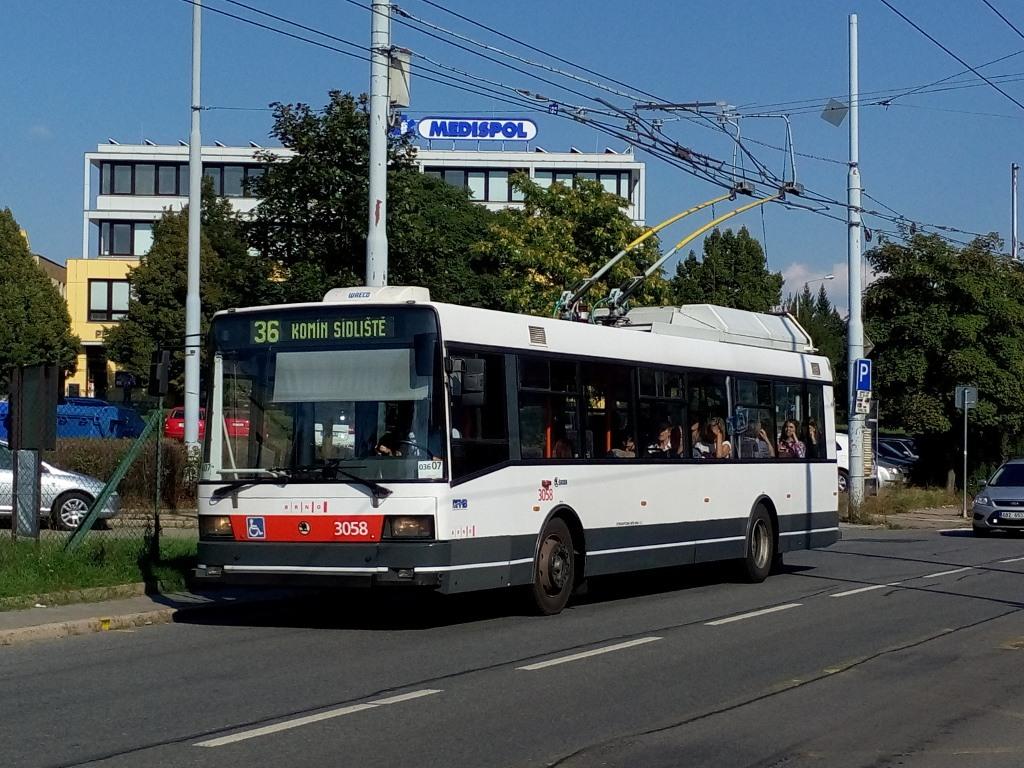 Fotogalerie » Škoda 21TrAC 3058 | Brno | Žabovřesky | Přívrat | Přívrat