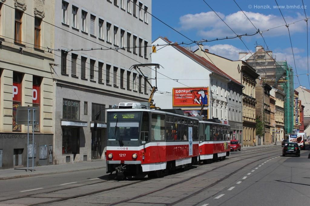 Fotogalerie » ČKD DS T6A5 1217 | ČKD DS T6A5 1218 | Brno | střed | Cejl
