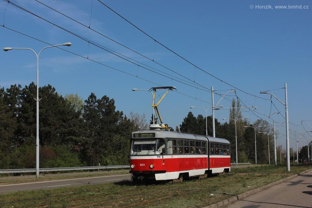 Fotogalerie » ČKD Tatra K2P 1051 | Brno | Černá Pole | třída Generála Píky