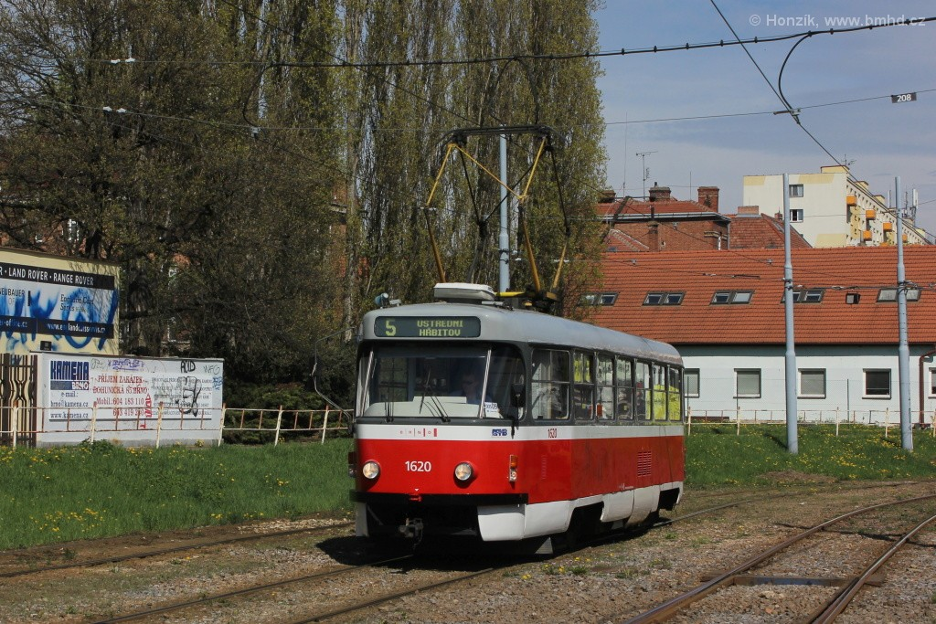 Fotogalerie » ČKD Tatra T3P 1620   Brno   Štýřice   Vídeňská
