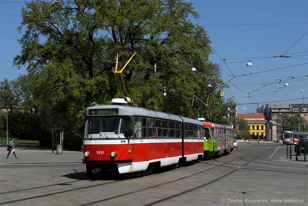 Fotogalerie » ČKD Tatra K2P 1031 | ČKD Tatra K2 1125 | Brno | střed | Moravské náměstí