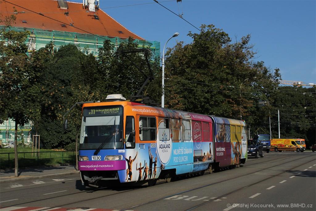 Fotogalerie » ČKD Tatra K2R03-P 1030 | Brno | střed | Rooseveltova