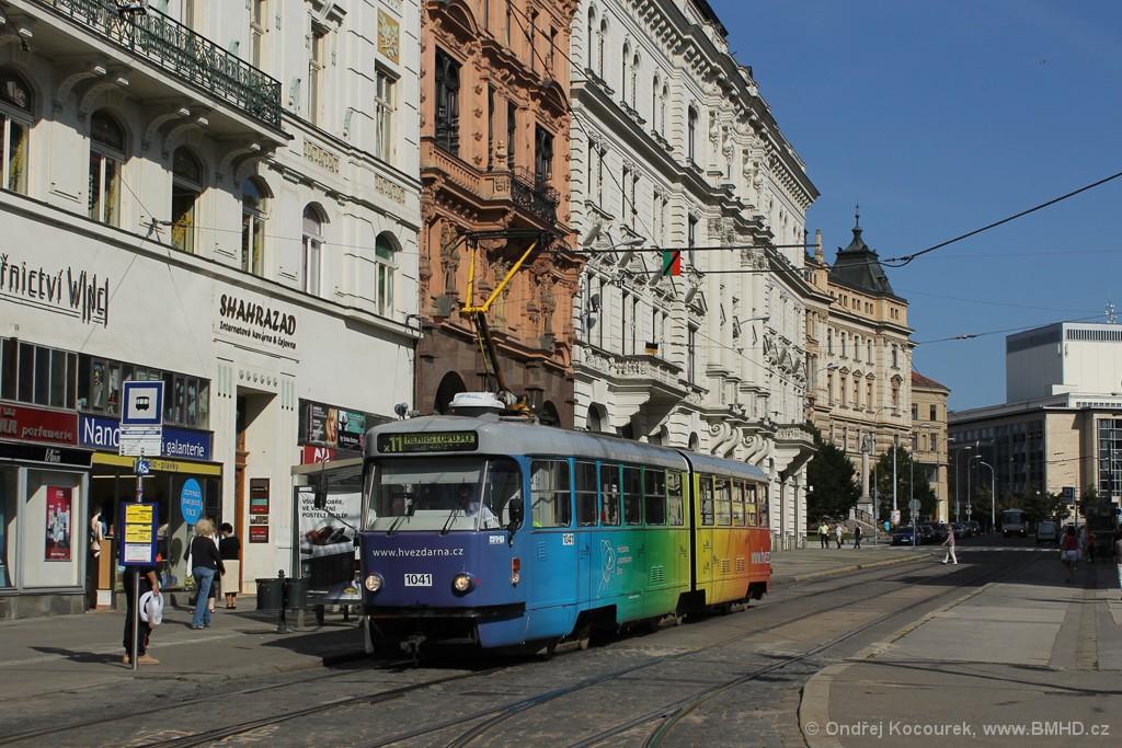 Fotogalerie » ČKD Tatra K2P 1041 | Brno | střed | Malinovského náměstí | Malinovského náměstí