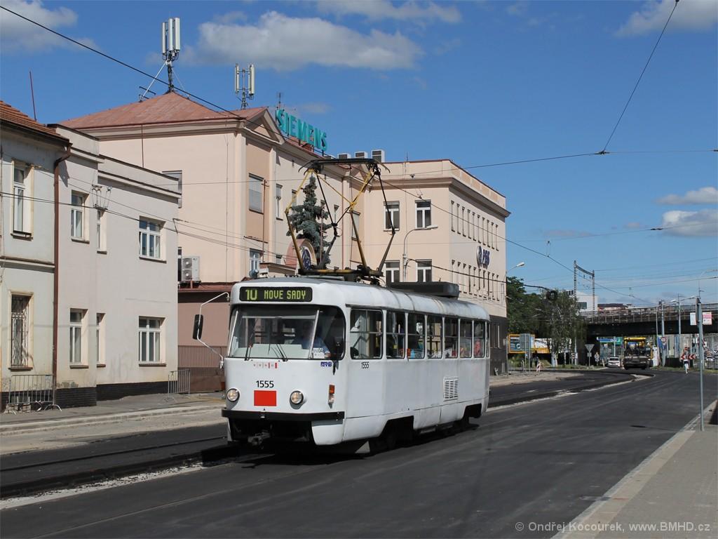 Fotogalerie » ČKD Tatra T3M 1555 | Brno | Černovice | Olomoucká