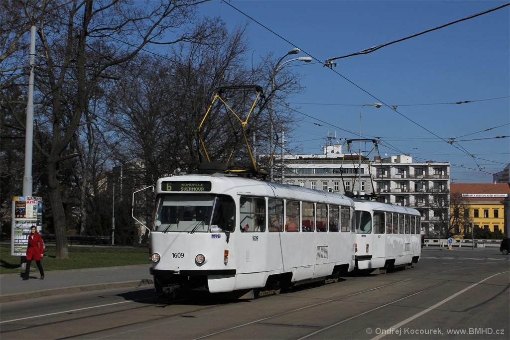 Fotogalerie » ČKD Tatra T3G 1609 | ČKD Tatra T3G 1621 | Brno | střed | Moravské náměstí