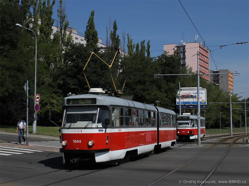 Fotogalerie » ČKD Tatra K2T 1044 | Brno | Štýřice | Vídeňská