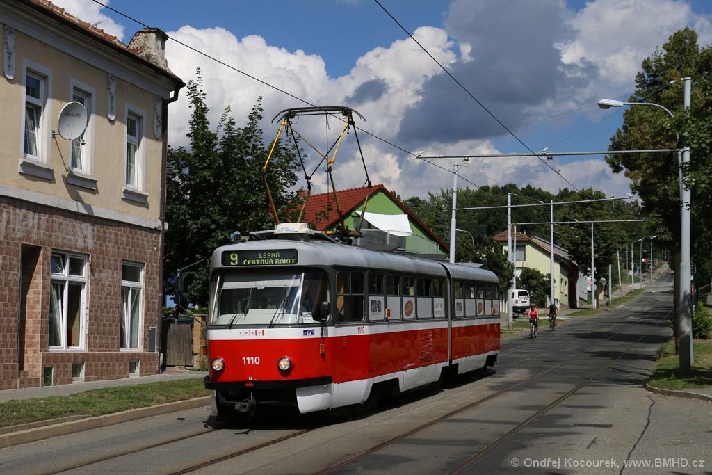 Fotogalerie » ČKD Tatra K2 1110   Brno   Juliánov   Líšeňská