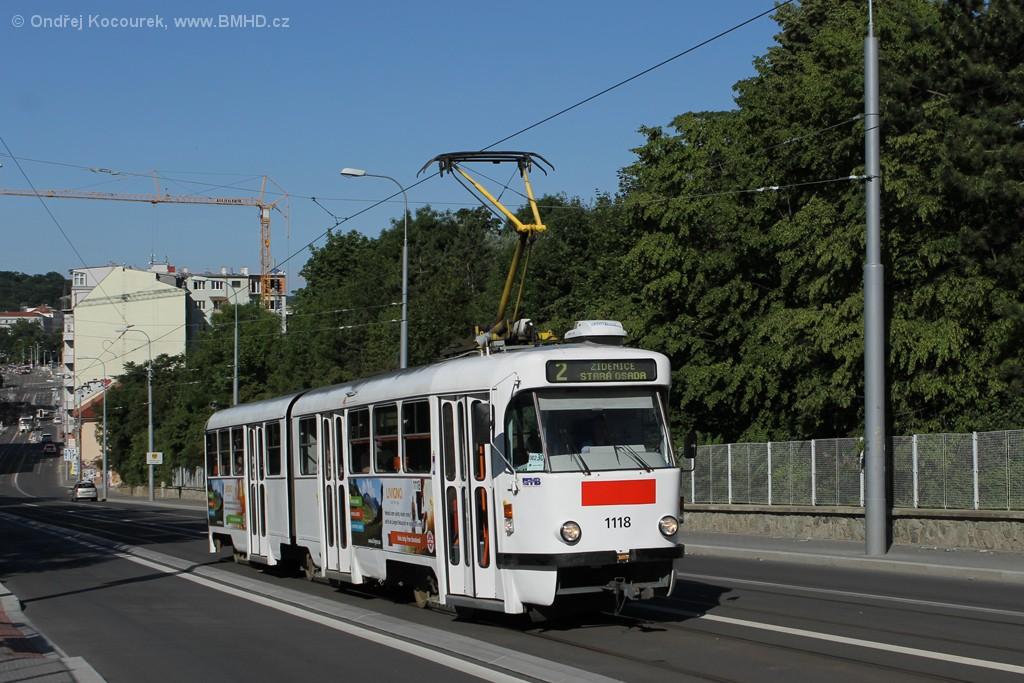 Fotogalerie » ČKD Tatra K2P 1118 | Brno | Černá Pole | Milady Horákové