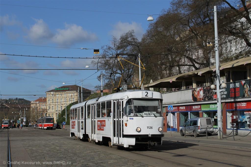 Fotogalerie » ČKD Tatra K2 1126 | Brno | střed | Nádražní