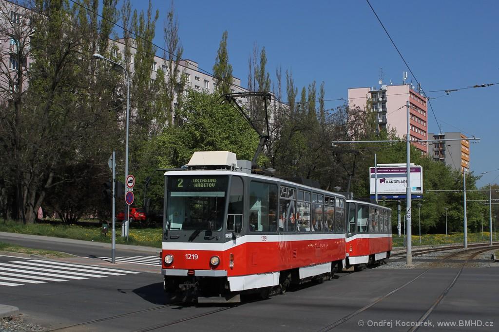 Fotogalerie » ČKD DS T6A5 1219 | ČKD DS T6A5 1220 | Brno | Štýřice | Vídeňská