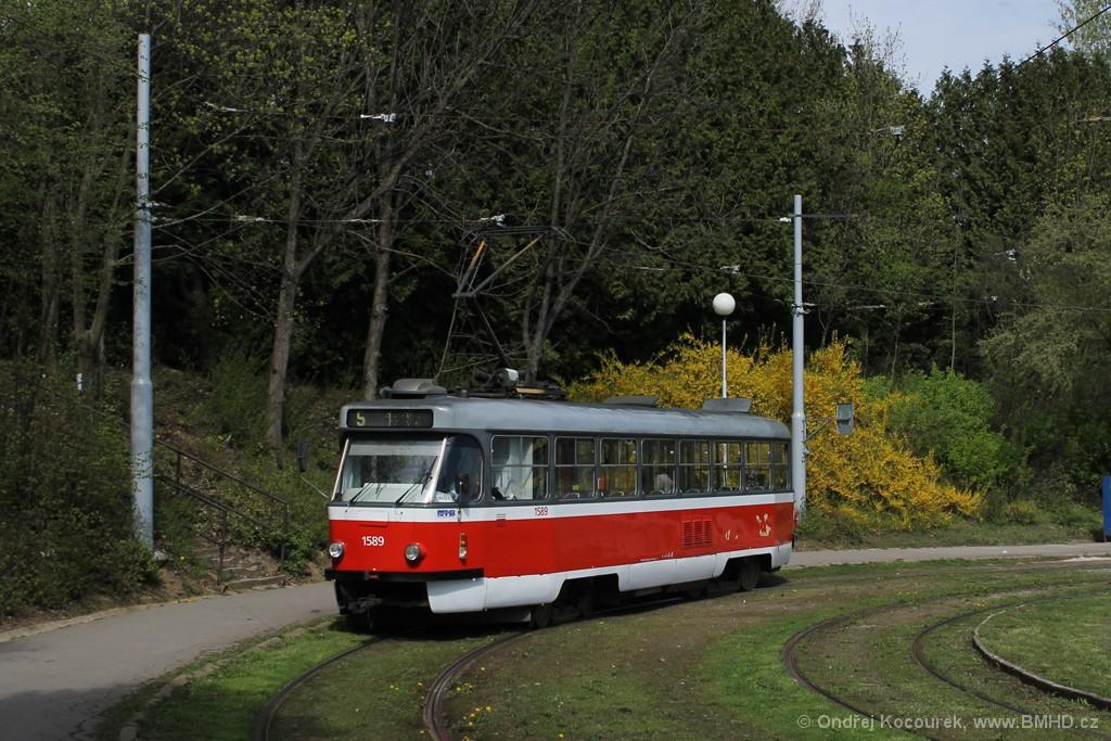 Fotogalerie » ČKD Tatra T3P 1589   Brno   Horní Heršpice