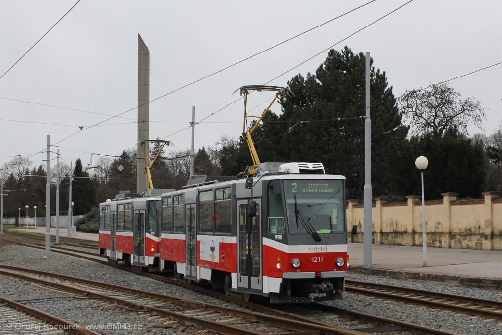 Fotogalerie » ČKD DS T6A5 1211 | ČKD DS T6A5 1212 | Brno | Štýřice | Vídeňská