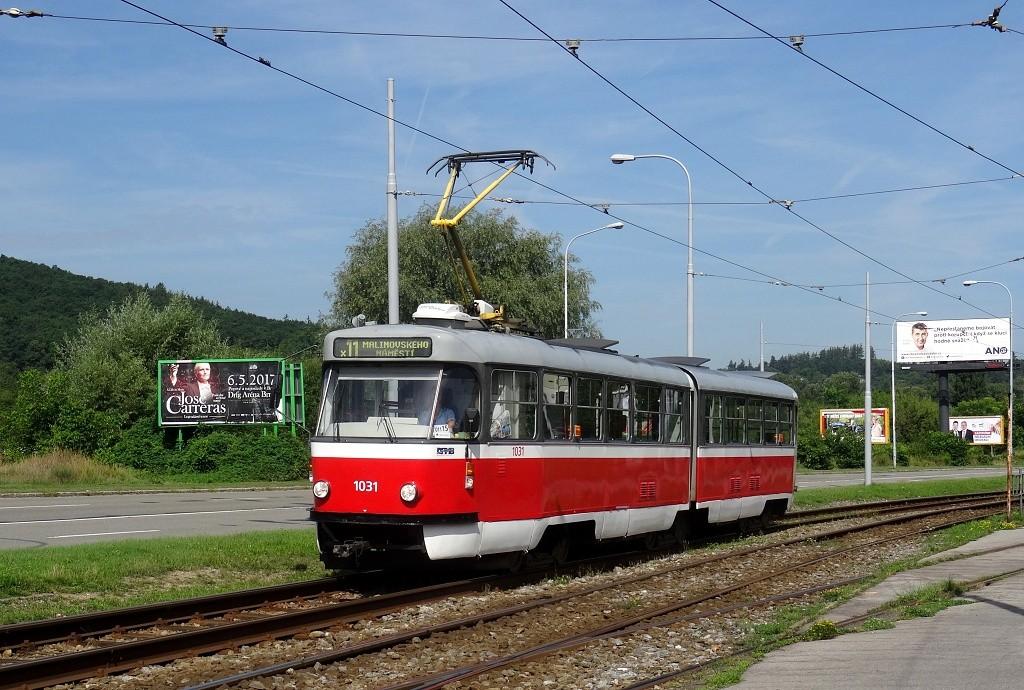 Fotogalerie » ČKD Tatra K2P 1031 | Brno | Komín | Kníničská