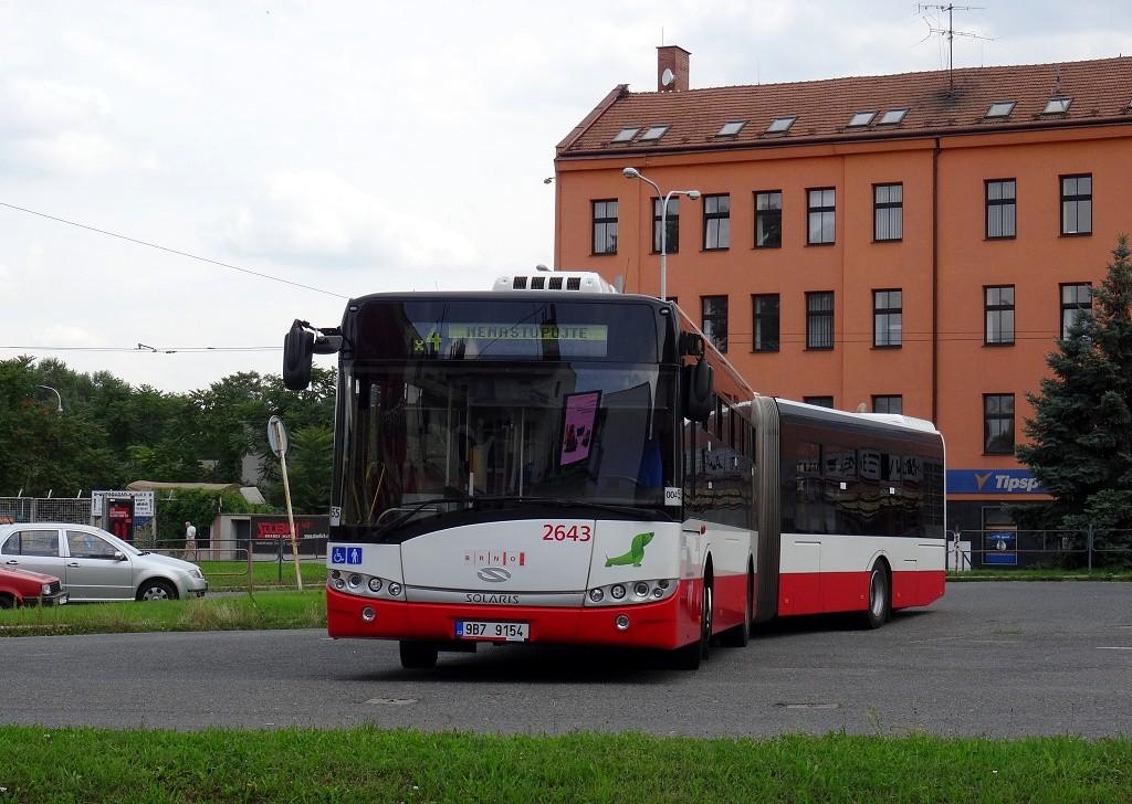 Fotogalerie » Solaris Urbino 18 III 9B7 9154 2643 | Brno | Trnitá | Zvonařka | Zvonařka, smyčka