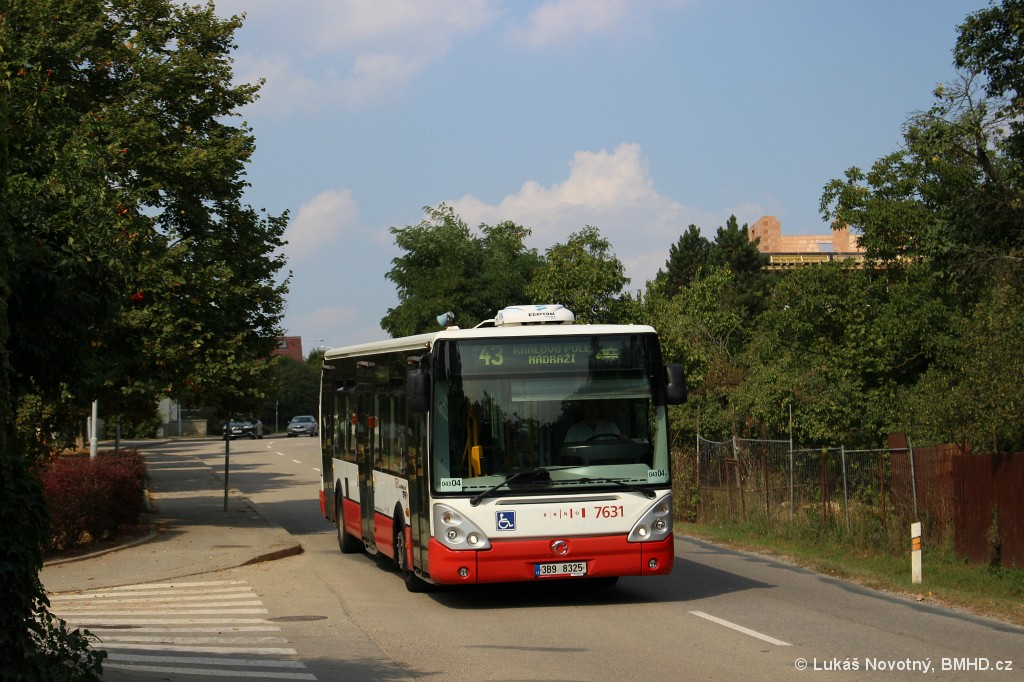 Fotogalerie » Irisbus Citelis 12M 3B9 8325 7631 | Brno | Sadová | Kociánka | Högrova
