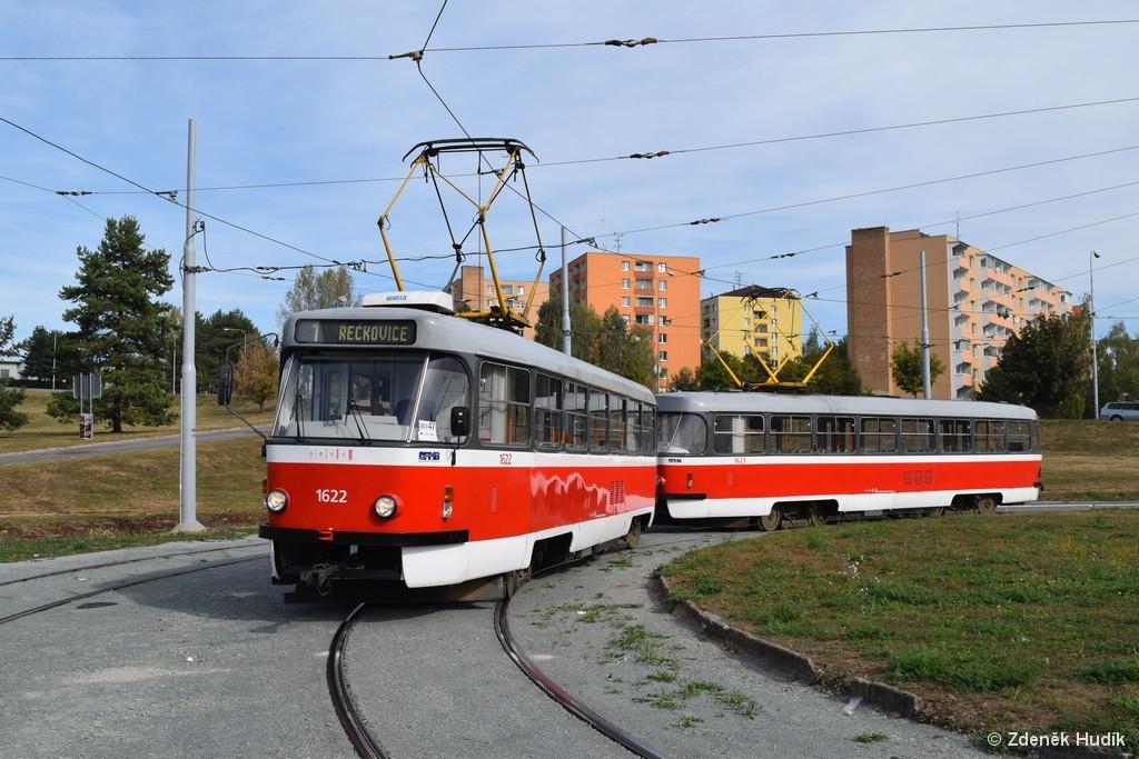 Fotogalerie » ČKD Tatra T3P 1622 | ČKD Tatra T3P 1623 | Brno | Bystrc | Bystrc, Ečerova
