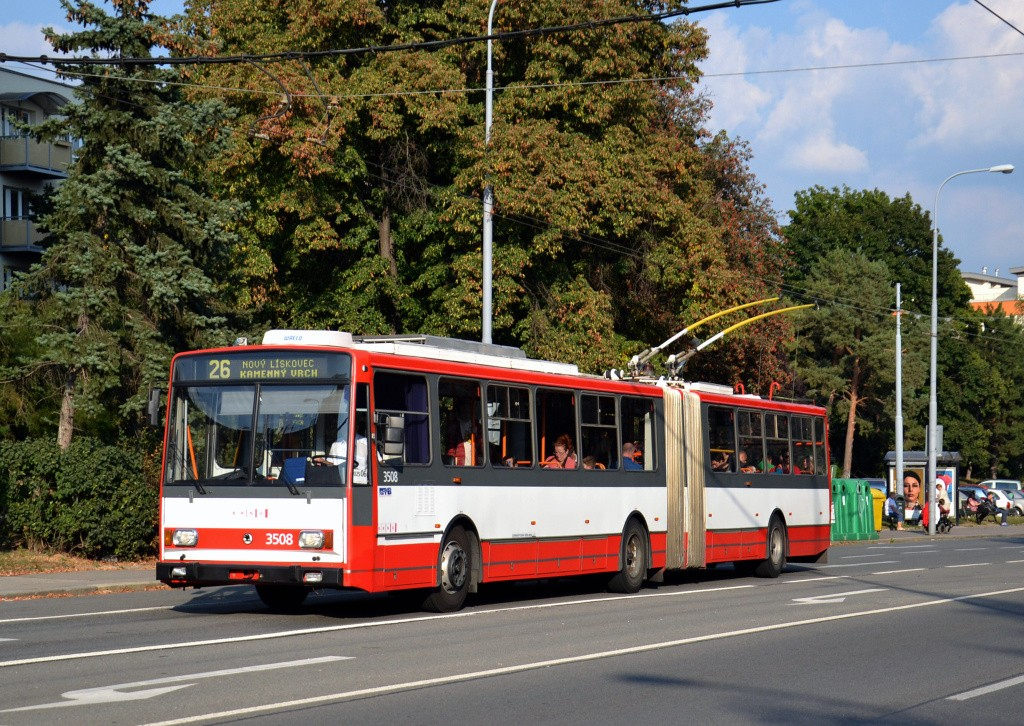 Fotogalerie » Škoda 15TrM 3508 | Brno | Černá Pole | Provazníkova | Merhautova