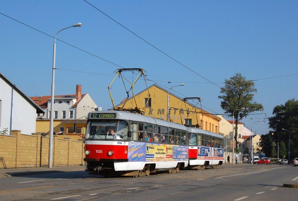 Fotogalerie » ČKD Tatra T3 1525 | ČKD Tatra T3 1528 | Brno | Trnitá | Dornych