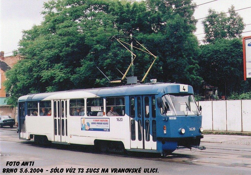 Fotogalerie » ČKD Tatra T3SUCS 1620 | Brno | Husovice | Vranovská