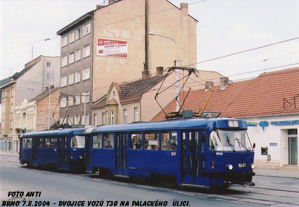 Fotogalerie » ČKD Tatra T3G 1641 | ČKD Tatra T3G 1642 | Brno | Královo Pole | Palackého