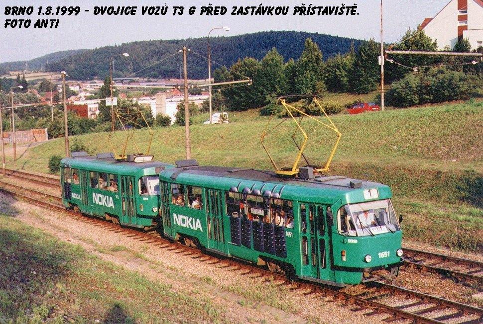 Fotogalerie » ČKD Tatra T3G 1651 | ČKD Tatra T3G 1652 | Brno | Bystrc