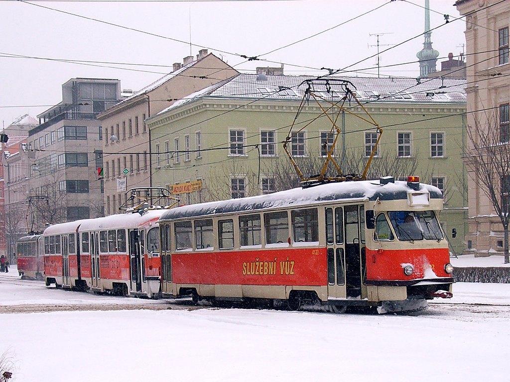 Fotogalerie » Tatra T2 služební 4122   ČKD Tatra K2 1088   Brno   střed   Joštova