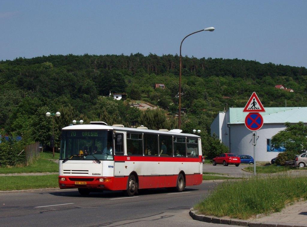 Fotogalerie » Karosa B931E.1707 7451 | Brno | Řečkovice | Novoměstská