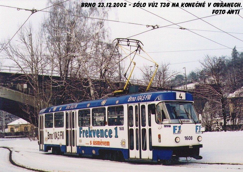 Fotogalerie » ČKD Tatra T3G 1608 | Brno | Maloměřice | Obřanská | Babická