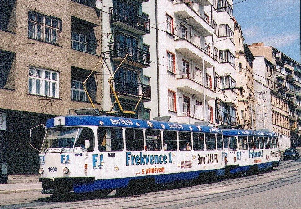 Fotogalerie » ČKD Tatra T3G 1608 | ČKD Tatra T3G 1606 | Brno | Staré Brno | Pekařská
