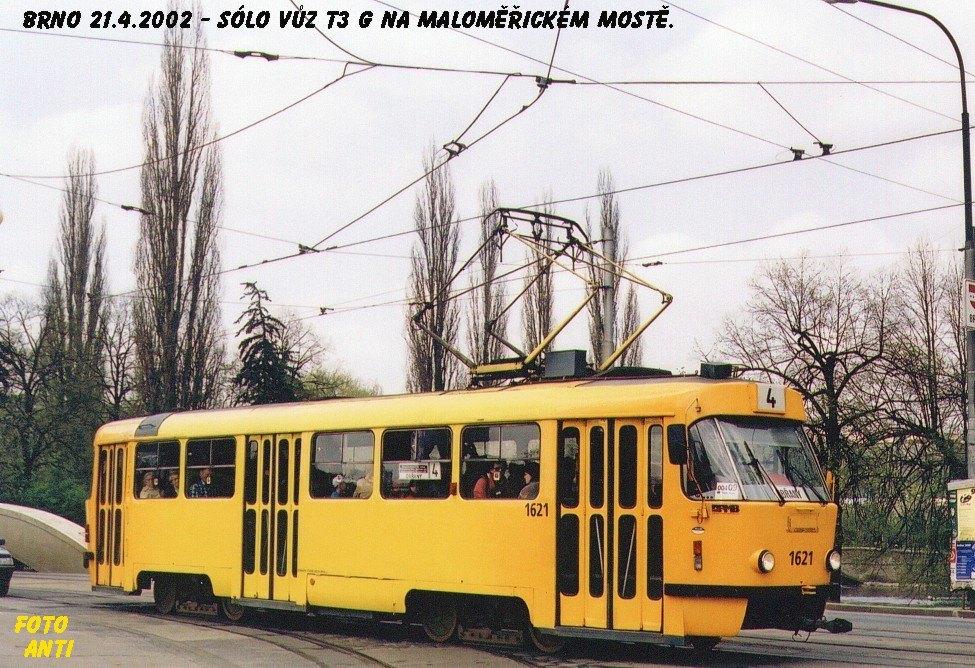 Fotogalerie » ČKD Tatra T3G 1621 | Brno | Maloměřice | Dolnopolní