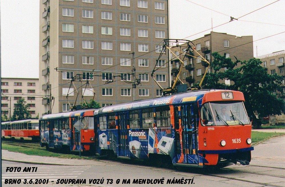 Fotogalerie » ČKD Tatra T3G 1635 | ČKD Tatra T3G 1636 | Brno | Staré Brno | Mendlovo náměstí