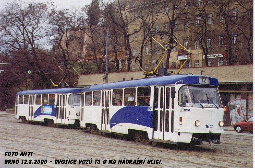 Fotogalerie » ČKD Tatra T3G 1641 | ČKD Tatra T3G 1642 | Brno | střed | Nádražní
