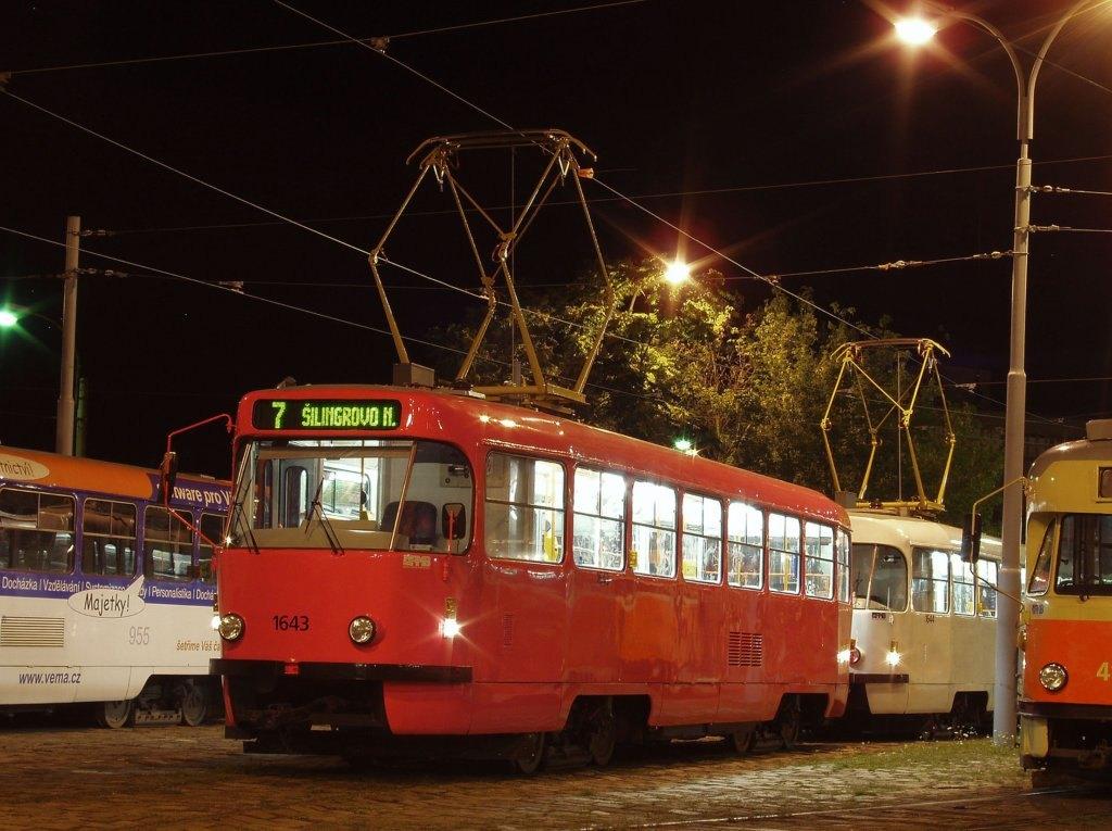 Fotogalerie » ČKD Tatra T3G 1643 | Brno | vozovna Pisárky