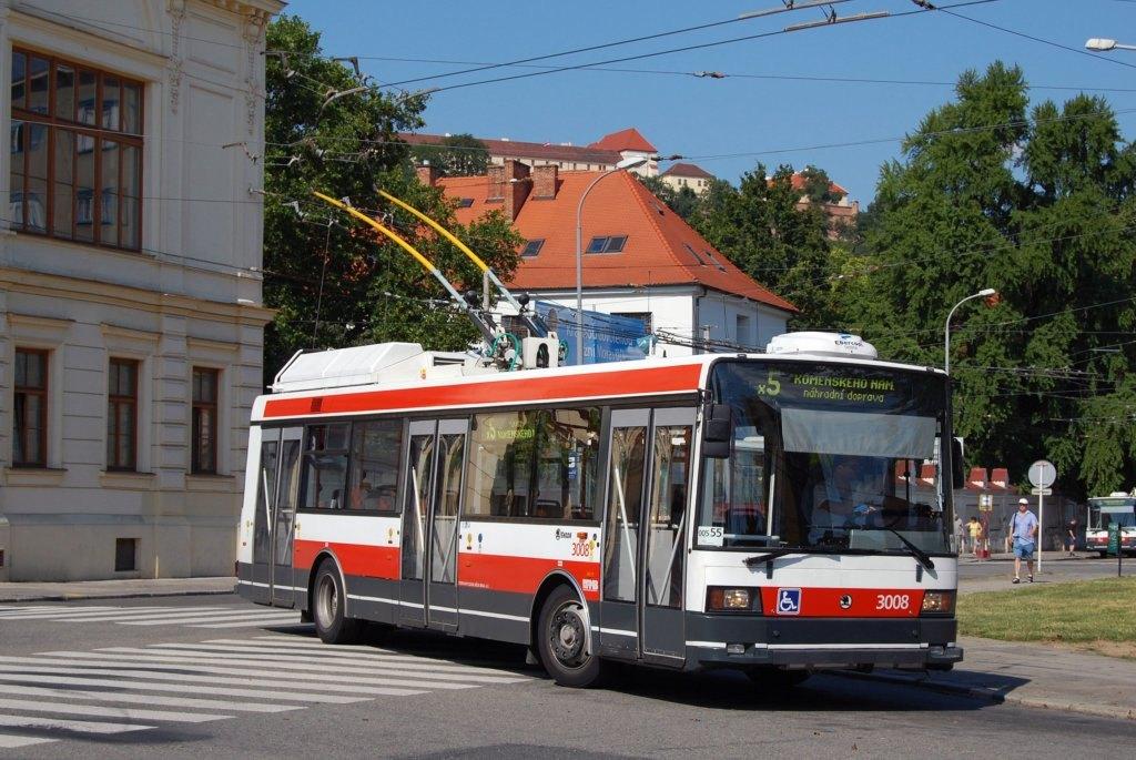 Fotogalerie » Škoda 21Tr 3008 | Brno | Staré Brno | Mendlovo náměstí