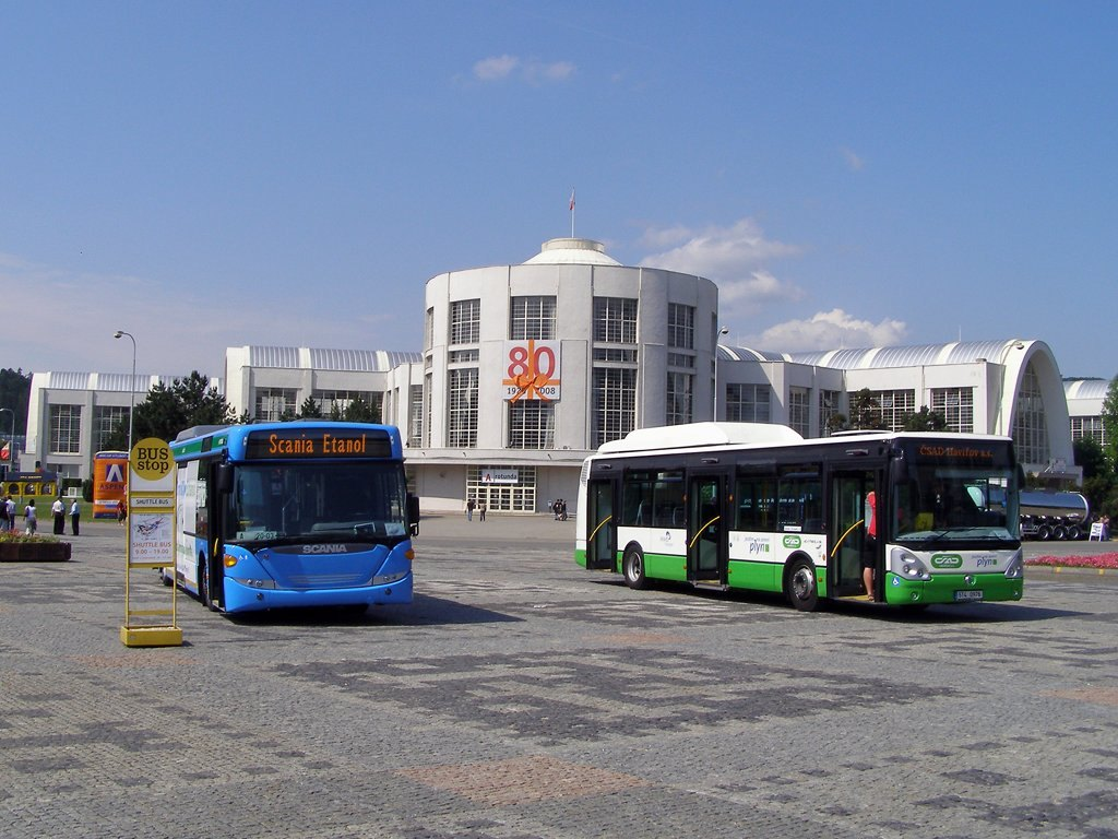 Fotogalerie » Scania Scania OmniCity Ethanol | Irisbus Citelis 12M CNG 5T4 0976 171 | Brno | Výstaviště BVV