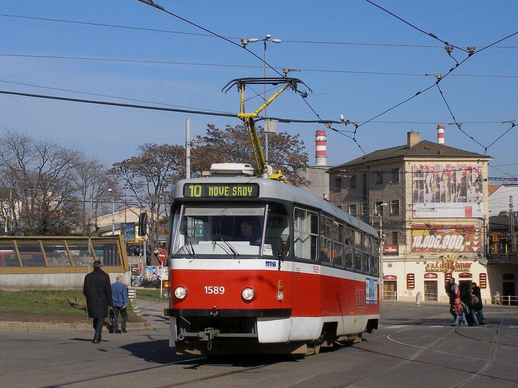 Fotogalerie » ČKD Tatra T3P 1589 | Brno | střed | Nádražní