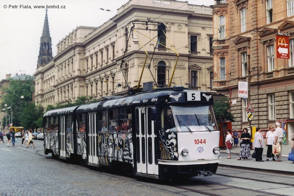 Fotogalerie » ČKD Tatra K2 1044 | Brno | střed | Joštova