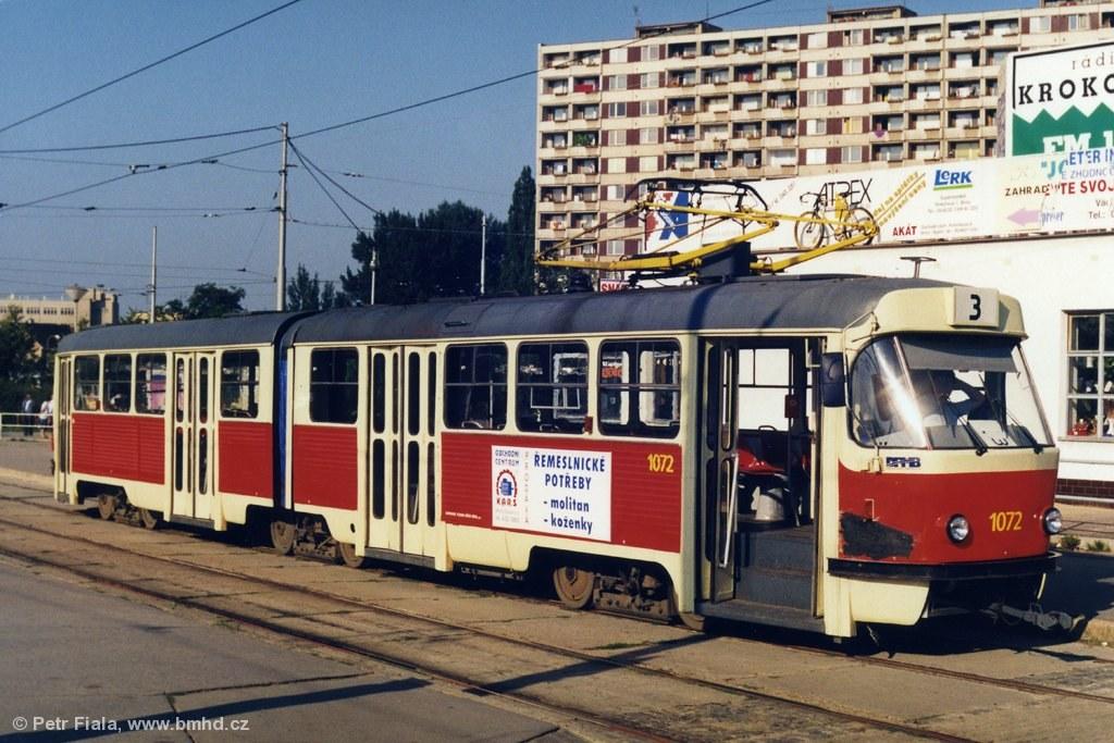 Fotogalerie » ČKD Tatra K2 1072 | Brno | Židenice | Svatoplukova | Stará Osada, smyčka