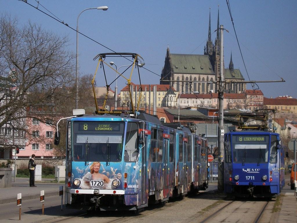 Fotogalerie » ČKD Tatra KT8D5 1720 | ČKD Tatra KT8D5 1711 | Brno | Štýřice | Renneská