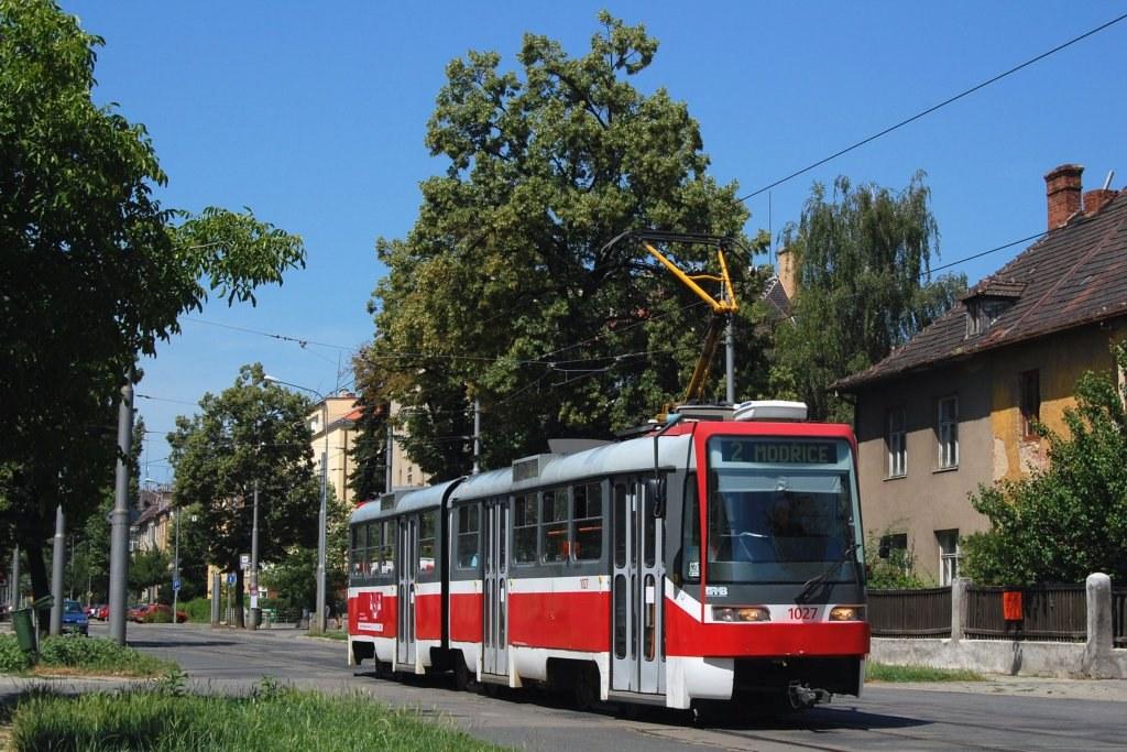 Fotogalerie » ČKD Tatra K2R03 1027 | Brno | Černá Pole | Lesnická