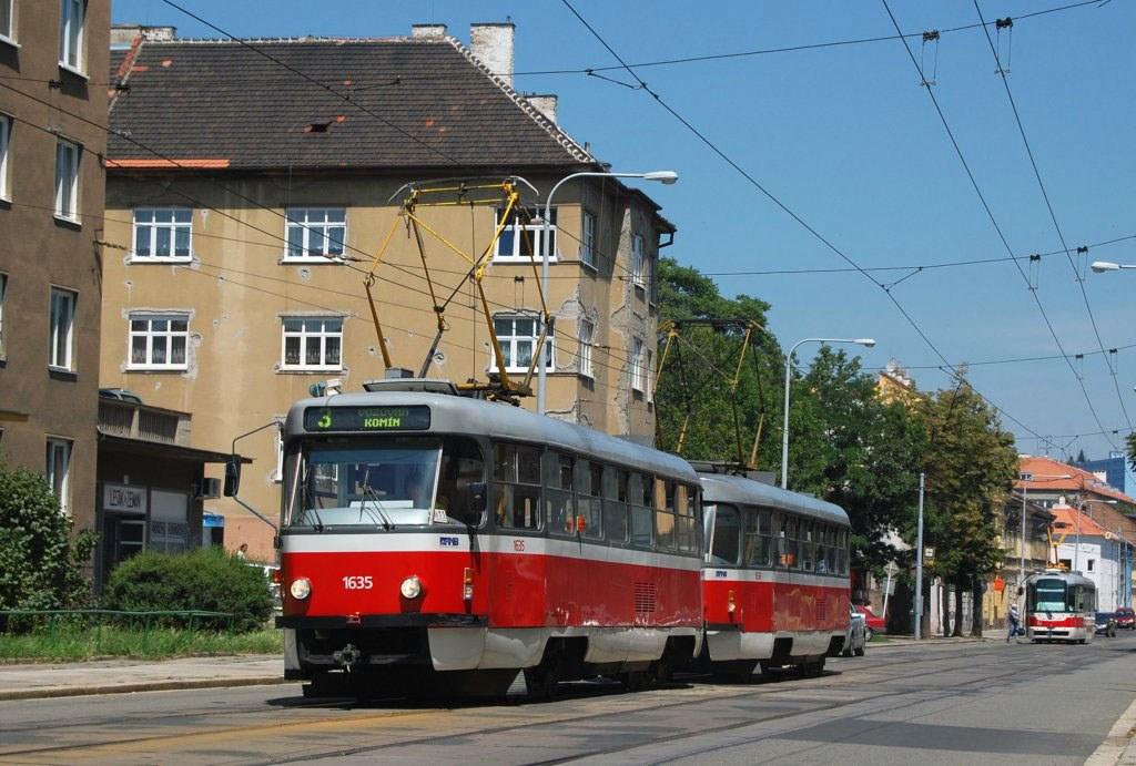 Fotogalerie » ČKD Tatra T3G 1635 | ČKD Tatra T3G 1636 | Brno | Zábrdovice | Vranovská