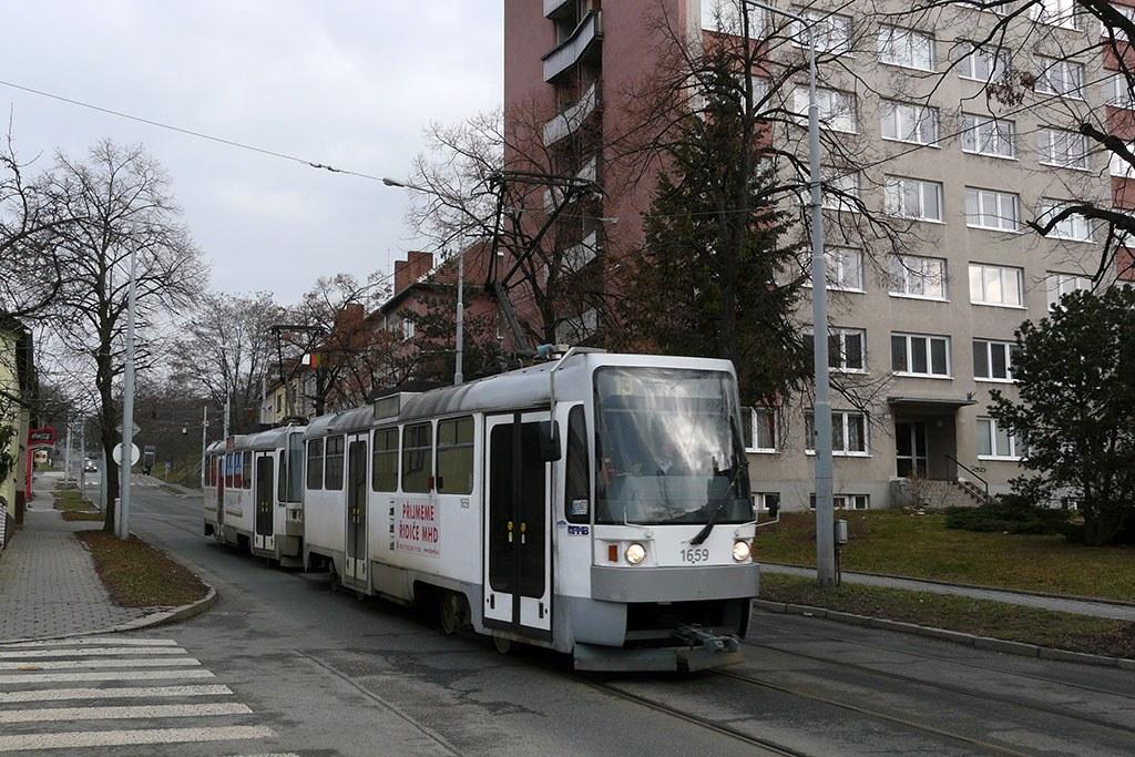 Fotogalerie » ČKD DS T3R 1659 | ČKD DS T3R 1660 | Brno | Juliánov | Líšeňská