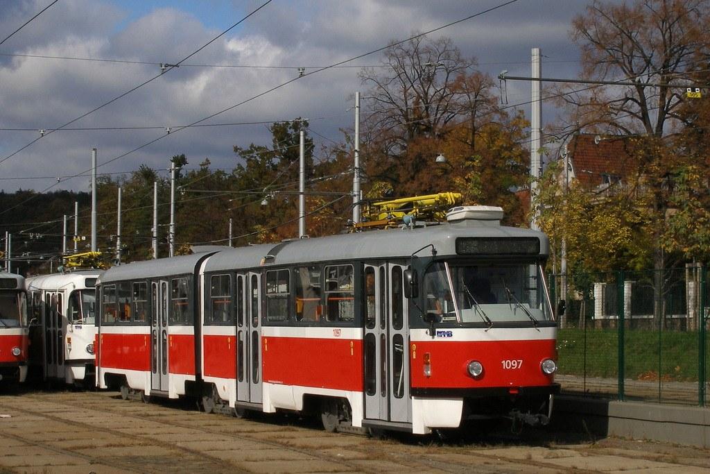 Fotogalerie » ČKD Tatra K2P 1097 | Brno | vozovna Pisárky