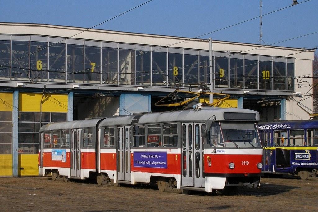 Fotogalerie » ČKD Tatra K2P 1119 | Brno | vozovna Pisárky