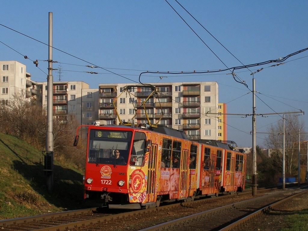 Fotogalerie » ČKD Tatra KT8D5 1722 | Brno | Bohunice