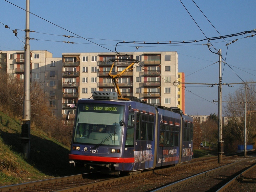 Fotogalerie » Škoda 03T7 1821 | Brno | Bohunice