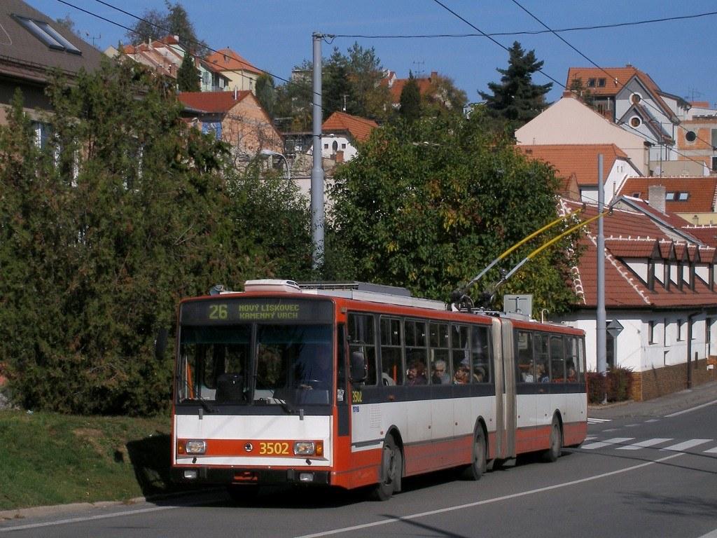Fotogalerie » Škoda 15TrM 3502 | Brno | Nový Lískovec | Rybnická
