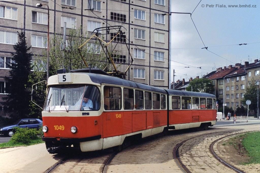 Fotogalerie » ČKD Tatra K2MM 1049   Brno   Černá Pole   Merhautova   Štefánikova čtvrť, smyčka
