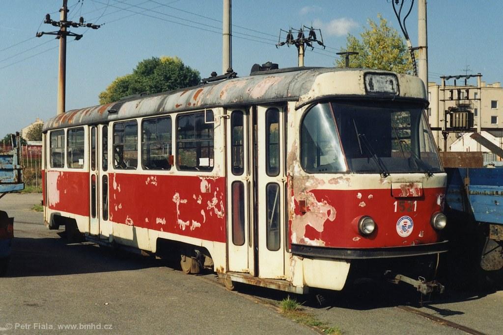 Fotogalerie » ČKD Tatra T3 1521 | Brno | Líšeň | TMB Líšeň